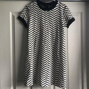 Zara Black and White Tunic Dress